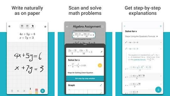 Capture d'écran Microsoft Math Solver