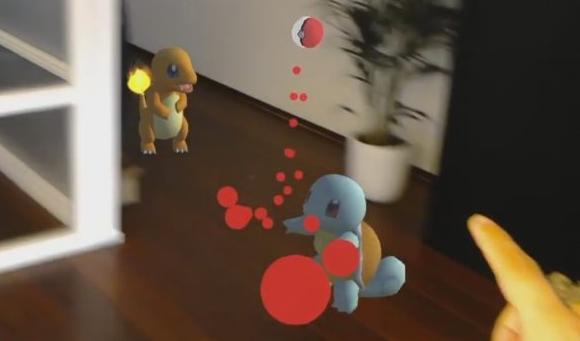 Capture d'écran Pokemon Go sur HoloLens