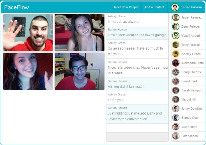 Capture d'écran Faceflow