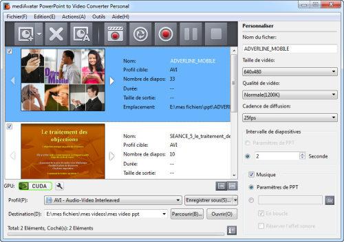 Capture d'écran Convertisseur PowerPoint vers Vidéo