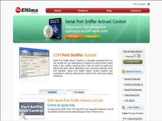 Capture d'écran Serial Port Sniffer ActiveX Control