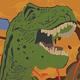 Logo Carte d'invitation anniversaire Les Dinosaures