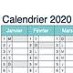 Logo Calendrier 2020