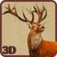 Logo 3D de chasse au cerf