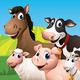 Logo Farm Animal Match Up Game