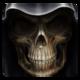 Logo Crânes Fond Animé