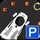 Logo Parking Futuriste Voiture 3D