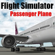 Logo Flight Sim Passenger Plane