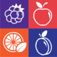 Logo Fruits: move and collect!