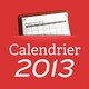 Logo Calendrier 2013 Excel – format annuel – Calendrier2013.net