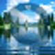 Logo Lake Clock Screensaver