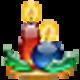 Logo Christmas Candles Screensaver