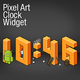 Logo Pixel Art Clock Widget