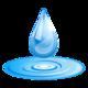 Logo Water Drops Real