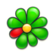 Logo ICQ Messenger chat and video