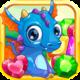Logo 3 Bonbons:  gemmes et dragons