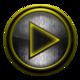 Logo Poweramp skin I. acier jaune