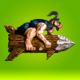 Logo Rocket Caveman