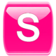 Logo Pink /W Socialize for Facebook