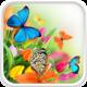 Logo Papillon Fond Animé