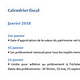 Logo Calendrier fiscal 2018 (Word)