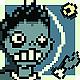 Logo Pixel Zombie Pong Galaxy