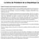 Logo La lettre du Président de la République aux Français