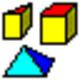 Logo 3D Geometrical Objects