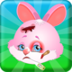 Logo Bunny Face Injury Animal Games