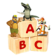 Logo ABCdaire Sons Animaux Enfants