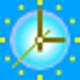 Logo Underwater Clock Bubbles Screensaver
