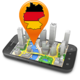 Logo Karten und Navigations 3D