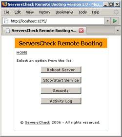 Capture d'écran Remote Booting