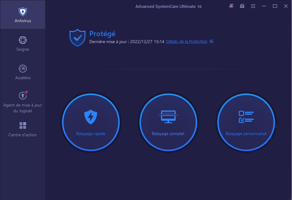 Capture d'écran Advanced SystemCare Ultimate