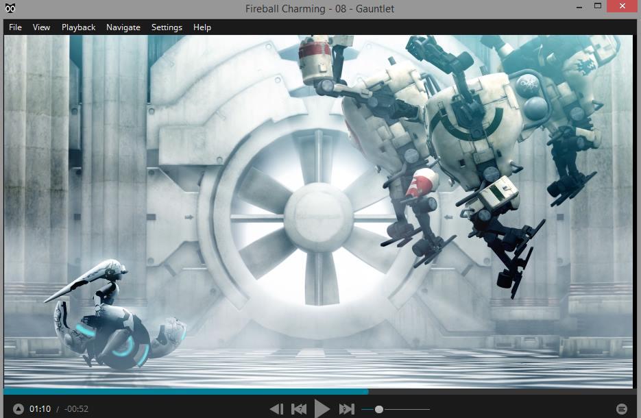 Capture d'écran Baka Media Player