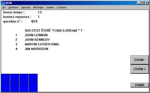 Capture d'écran Winqcm