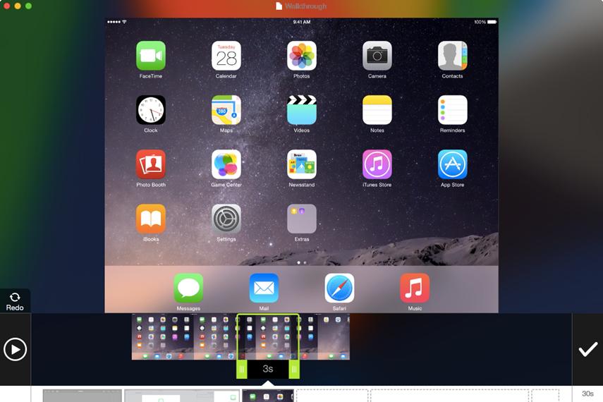 Capture d'écran TechSmith AppShow Mac