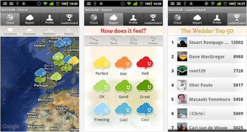 Capture d'écran Weddar Android