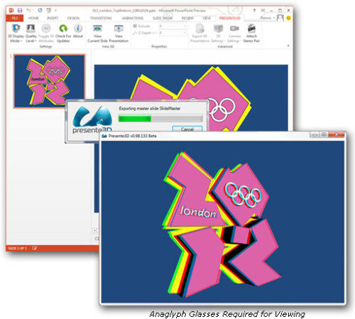 Capture d'écran Presente3D