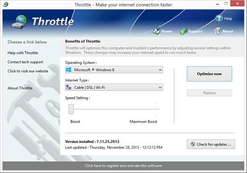 Capture d'écran Throttle