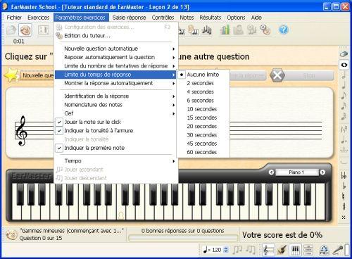 Capture d'écran EarMaster School 5