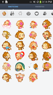 Capture d'écran Cute Emoticons Sticker