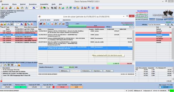 Capture d'écran Devis-Factures PHMSD