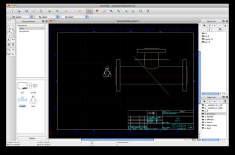 Capture d'écran LibreCAD Linux