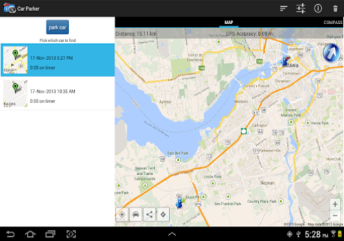 Capture d'écran Trouve Ta Voiture Android