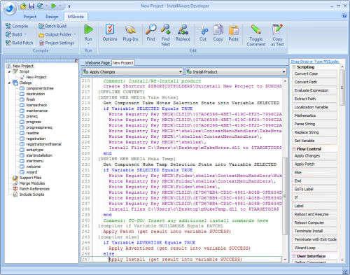 Capture d'écran InstallAware Developer for Windows Installer