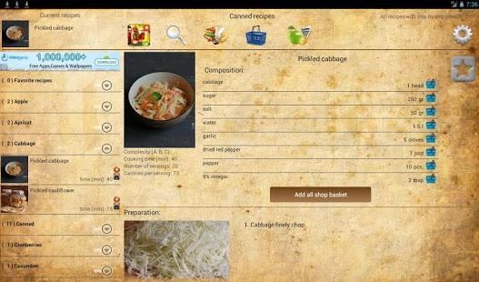Capture d'écran Canning recipes