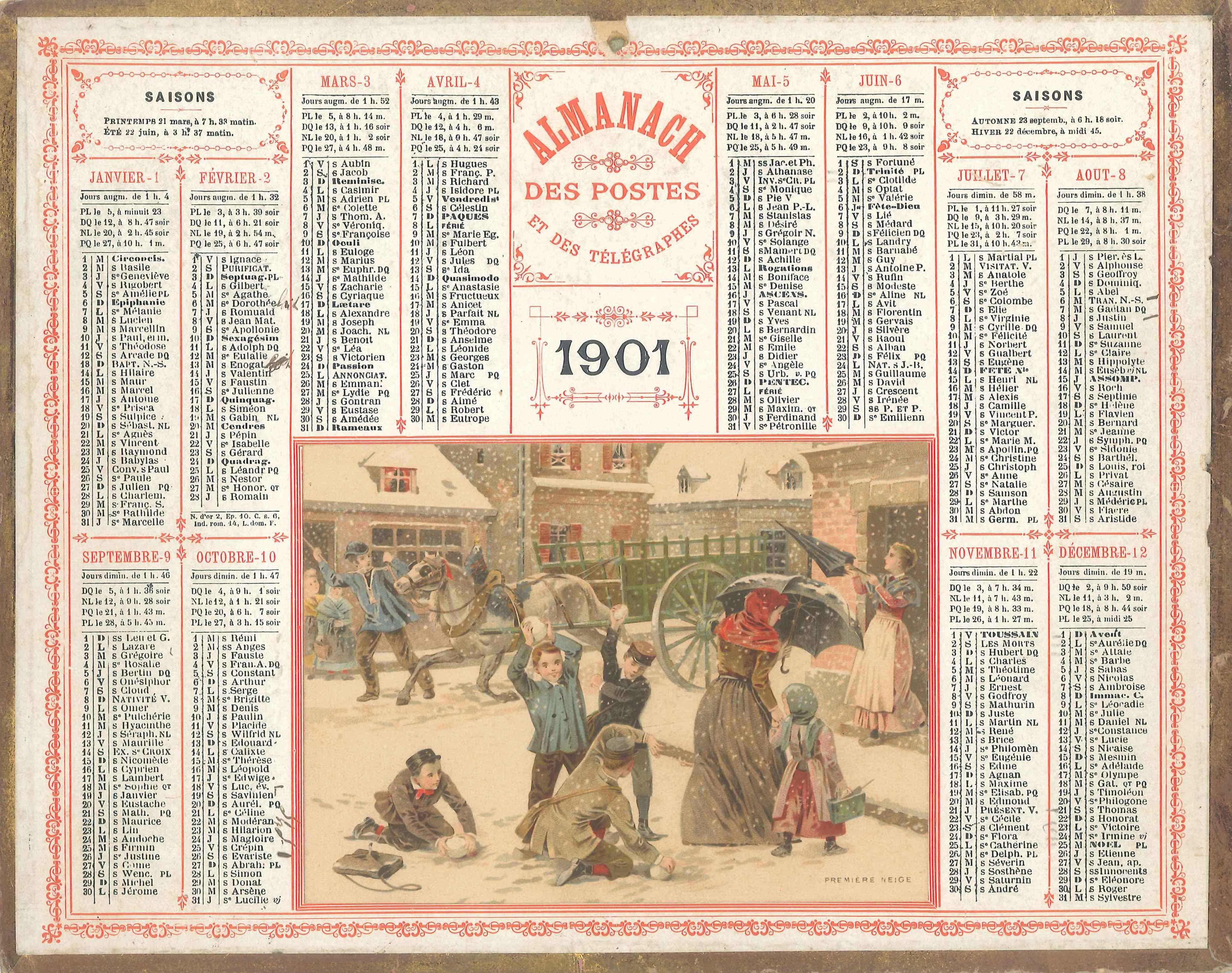 Capture d'écran Pack de Calendriers Vintage (1901-2019)