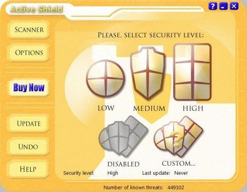 Capture d'écran Active Shield
