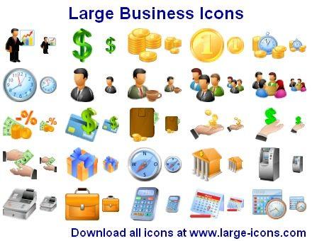 Capture d'écran Large Business Icons